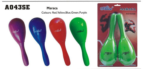 A043SE ALICE MARACAS (PR) ASST COLORS