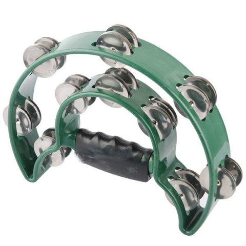 ATB002GR ALICE DOUBLE-RING TAMBOURINE GREEN