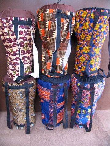 "CAR13-PRO DJEMBE CARRY BAG FOR 13"" PRO - HANDMADE - NO TWO ALIKE"