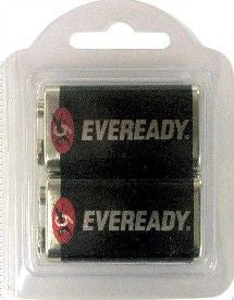 Eveready 9 Volt Battery - 2-Pack