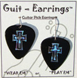Guitar Pick Earrings Assorted Designs