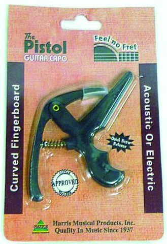 """The Pistol"" Quick Release Guitar Capo - Curved Fingerboard"