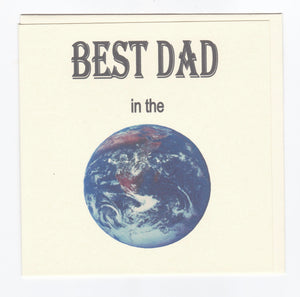 'Best Dad' Greeting Card