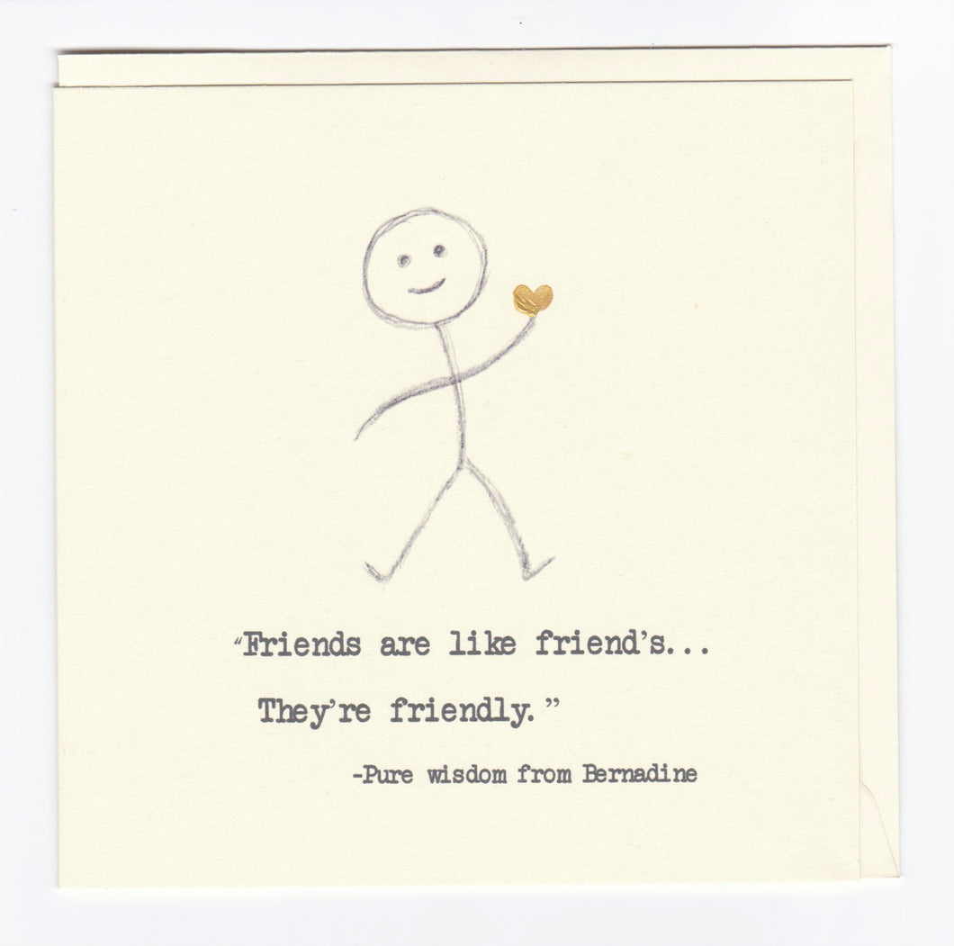 'Friends...' Greeting Card