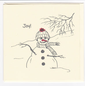 3 Christmas Cards - JOY