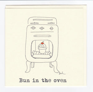 'Bun in The Oven' Greeting Card