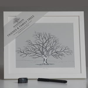 Friends & Family Tree - Large Oak Framed