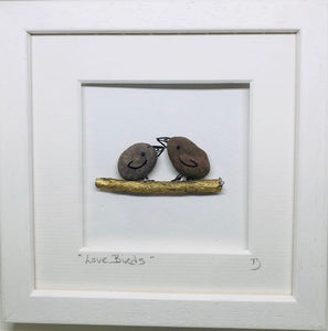 Love Birds - Pebble Art
