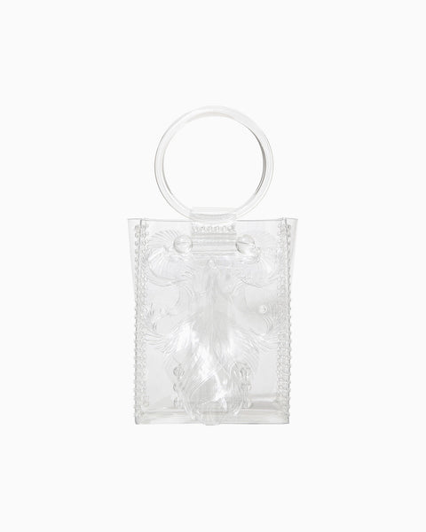 Transparent Sculptural Mini Handbag - clear