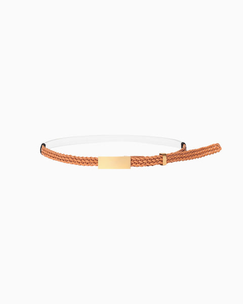 Combination Narrow Belt - brown