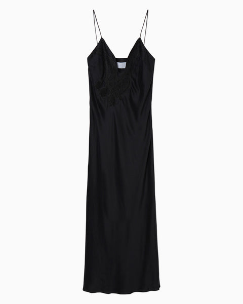 Embroidered Camisole Dress - black
