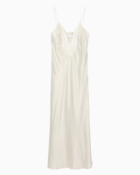 Embroidered Camisole Dress - white