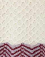 Lace Knitting Cardigan - white