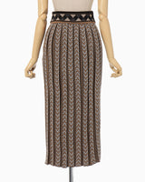 Pleated Knitted Skirt - beige
