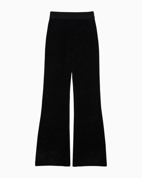 Soft Touch Knitted Pants - black