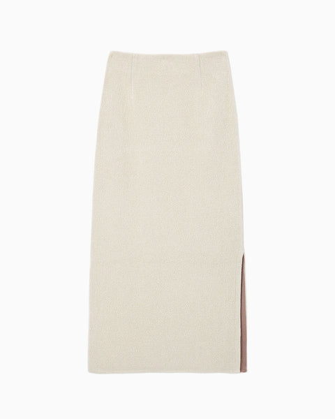 Soft Touch Knitted Skirt - white