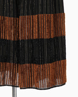 Shimmering Striped Wide Trousers - black