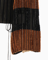 Shimmering Striped Tunic - black