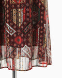 Stained Glass Printed Dress - brown