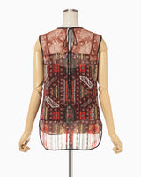 Stained Glass Printed Top - brown