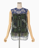 Stained Glass Printed Top - green