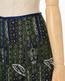 Stained Glass Printed Skirt - green