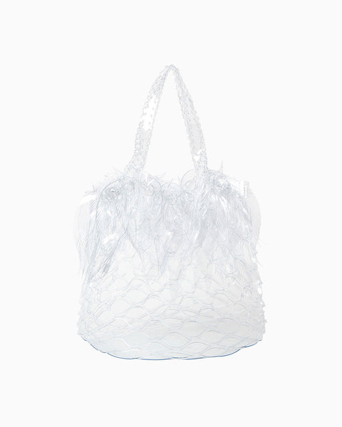 Vinyl Chloride Cloth Botanical Drum Bag - clear