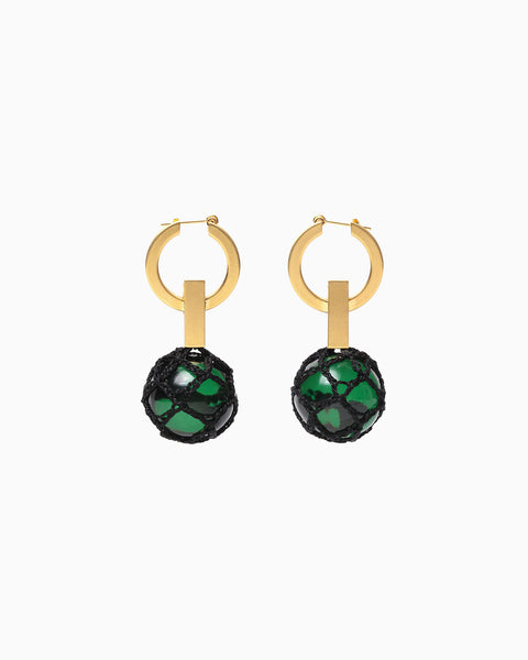 UKIDAMA Pierced Earrings - green