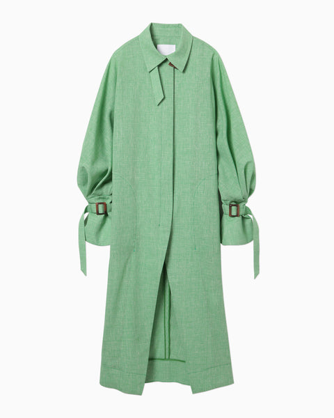 Wool Linen Coat - green