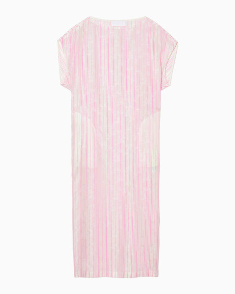 Ribbon Jacquard I-Line Dress - pink