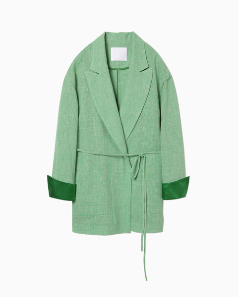 Wool Linen Jacket - green