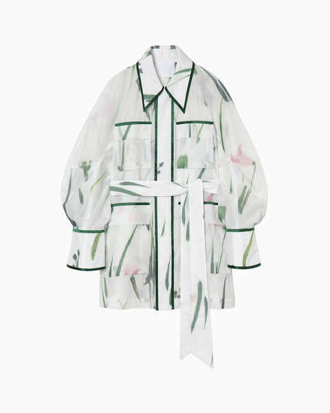 KASURI Jacquard Safari Jacket - white