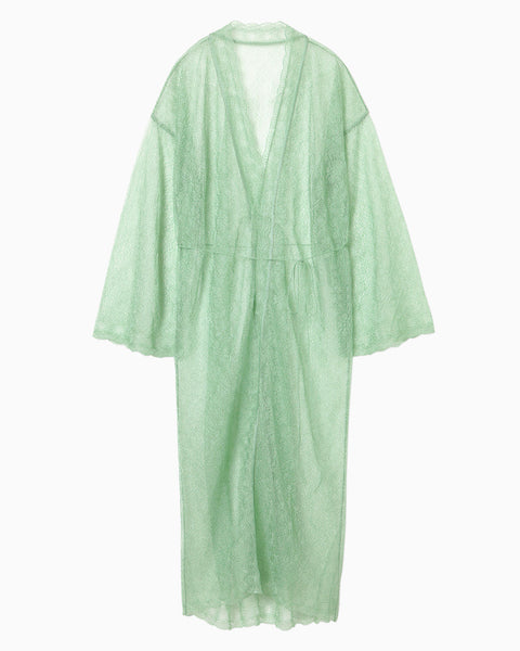 Wrapping Knit Gown - green