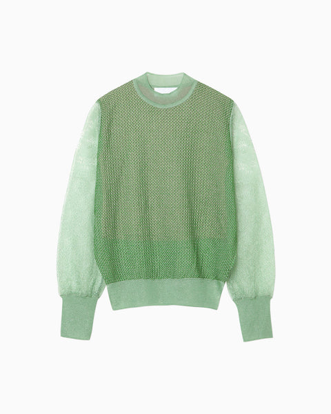 Wrapping Knit Pullover - green