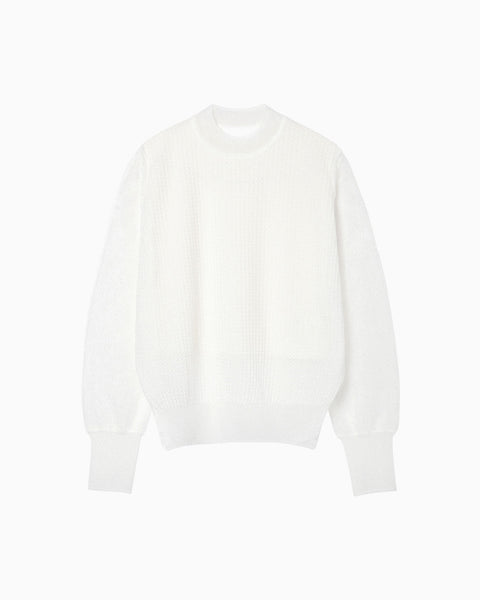 Wrapping Knit Pullover - white