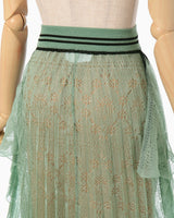 Wrapping Knit Skirt - green