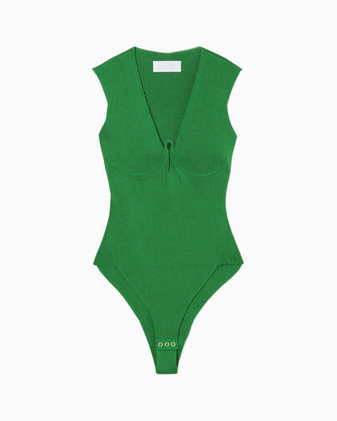 Knit Body Suit - green