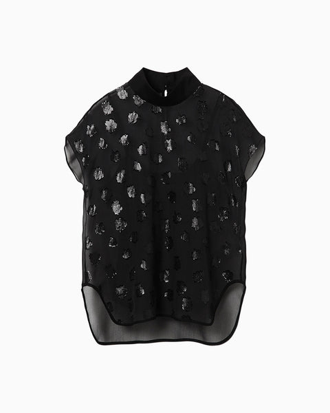 Film Jacquard Tops - black