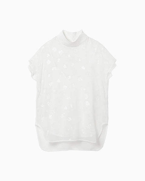 Film Jacquard Tops - white