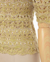 Floral Watermark Knitted Top - yellow