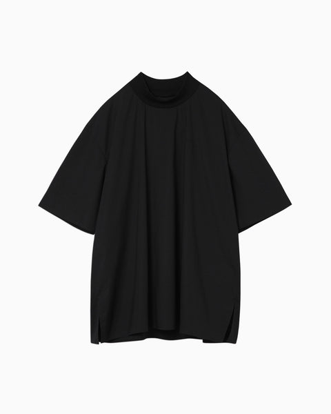 thmk Ribbed High Neck T-Shirt - black