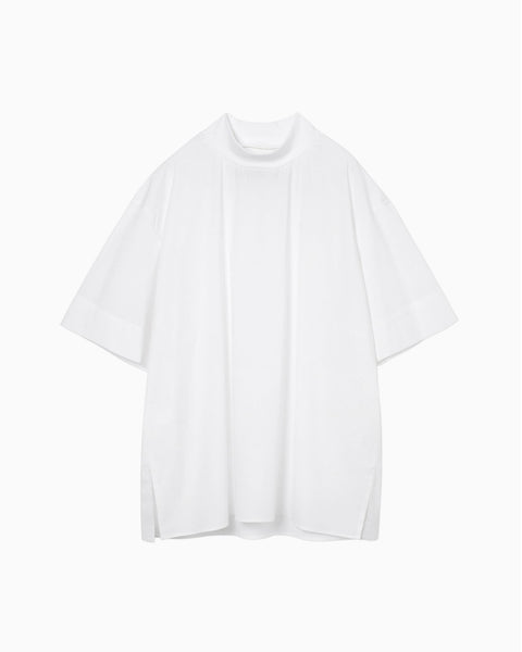 thmk Ribbed High Neck T-Shirt - white