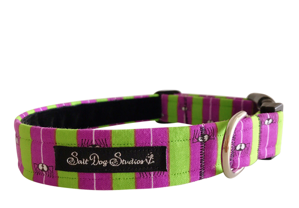 Beetle Juice Halloween Dog Collar ©