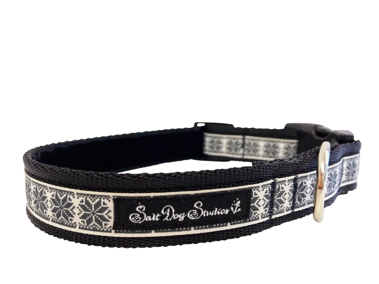 Black Nordic Snowflake Dog Collar ©