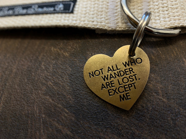 Brass Heart Tag 41mm x 38mm