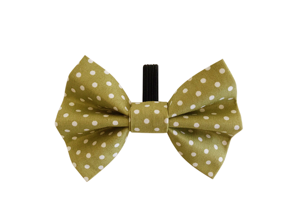 Green Polka Dot Dolly Bow Tie ©