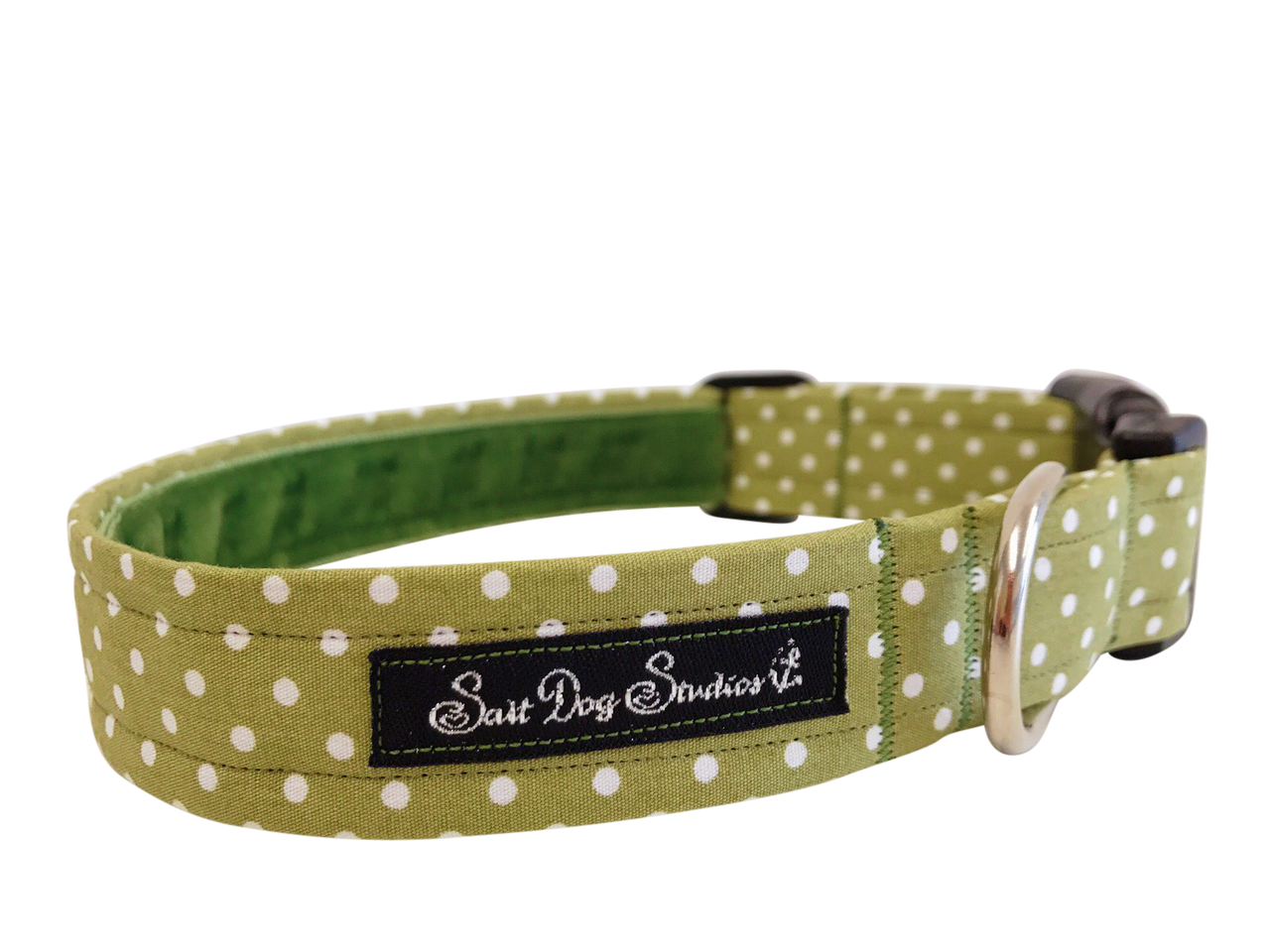 Green Polka Dot Dolly Dog Collar ©