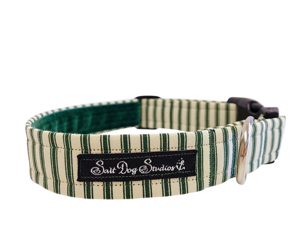 Green Striped PJ's Dog Collar ©