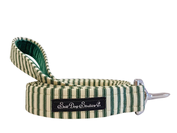 Green Striped PJ's Dog Lead ©