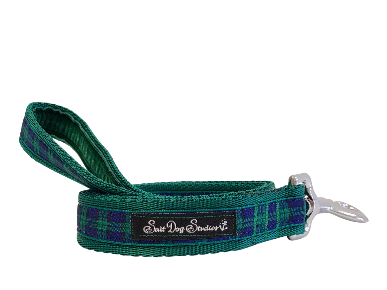 Green Tartan Dog Lead ©